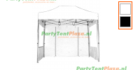 3 x 2 Silver PVC inclusief zijwanden (brandvertragend certificaat)