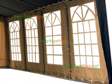 zijwand raamzijde 8m polyester