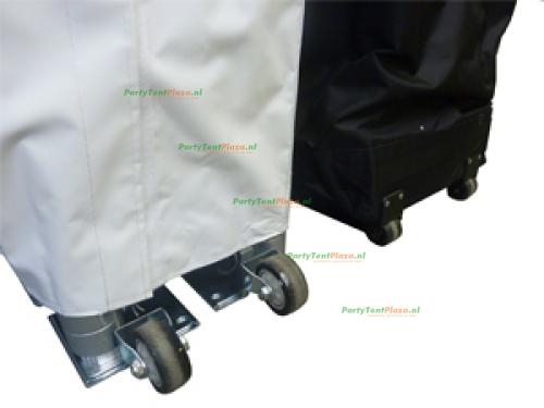 6 x 3 Platinum PVC zonder zijwanden (brandvertragend certificaat)