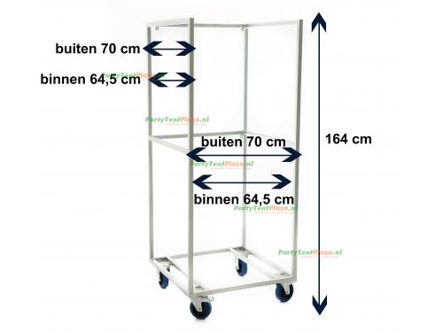 koelkast met glasdeur incl. trolley
