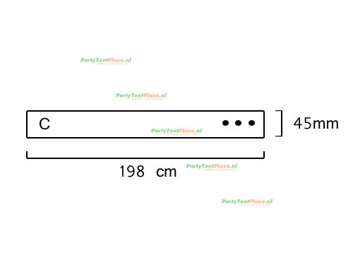 buis lengte: 1.98 m (45 mm)